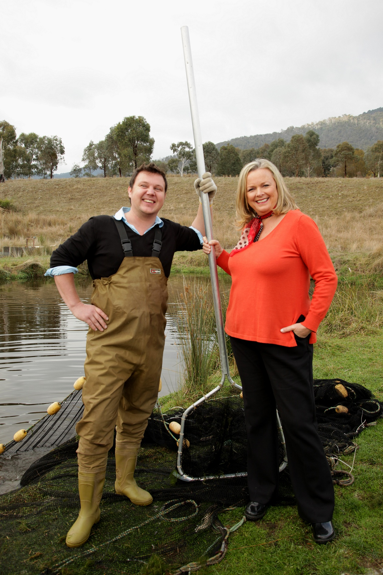 Lyndey with Nick Gorman from Yarra Valley Caviar resized