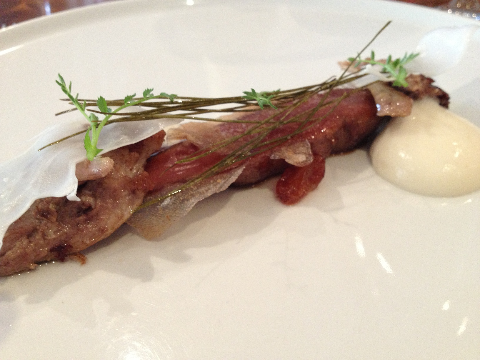 thirlmere duck, cauliflower, white raisins, pear & pine needles resized