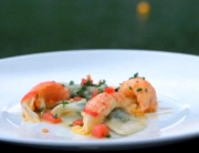 EP 7 Yabby tails, buffalo ricotta and spinach ravioli, sage beurre noisette