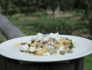 Ep 8 Potato gnocchi with smoked bacon, broad beans, nettles and ricotta