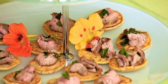 EP 8 Mustard pikelets with minted lamb