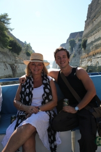 Filming Lyndey & Blair's Taste of Greece in Corinth Canal