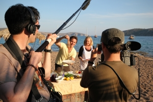 Filming Taste of Greece