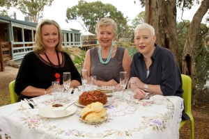 Filming Taste of Australia with Maggie Beer & Saskia Beer