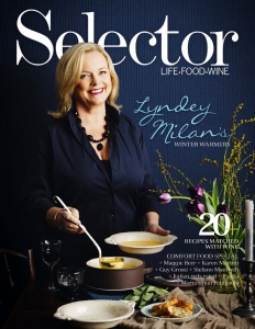 On cover of Selector