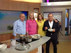 Herbie and I with Larry Emdur and Kylie Gillies