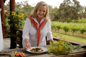 Filming Taste of Australia  at Cullen Estate with Pork steaks