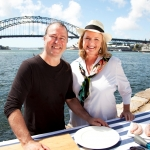 Filming Taste of Australia with Neil Perry on Sydney Harbour