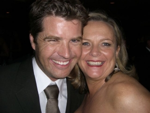 With Peter Evans at the Logies