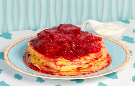 Ricotta Pancakes with Redbelly Citrus compote